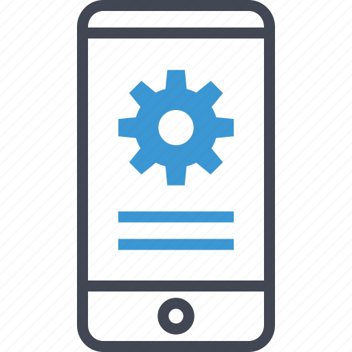 cell, graph, phone, report icon