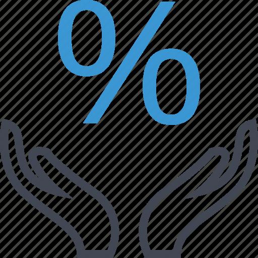 percentage, rate, revenue icon