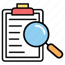 data search, document analysis, document management, overview, search results icon
