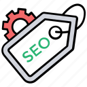 meta tags, search engine optimization, seo keywording, seo optimization, seo tags icon