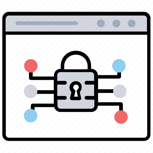 cybersecurity, data privacy, data protection, internet security, website protection icon