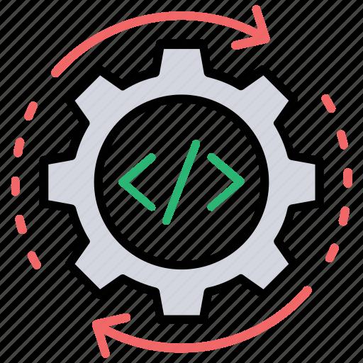 code modification, code optimization, programming language, seo optimization, web development icon