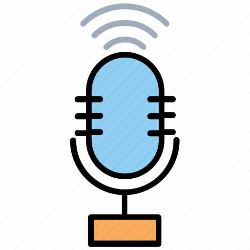 audio marketing, internet digital recording, online broadcasting, start a podcast, virtual advertising icon