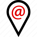 at, email, locate, sign icon