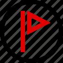 favorite, flag, flagged, menu icon