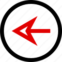 arrow, back, backwards, menu icon