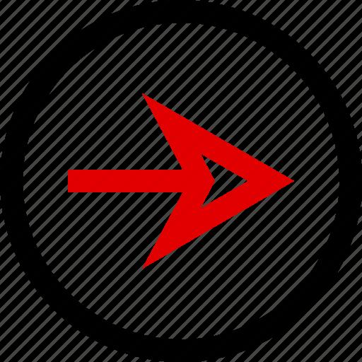 arrow, go, menu, next icon