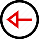 arrow, back, left, menu icon