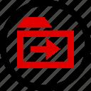 arrow, folder, menu, next icon