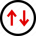 arrows, down, menu, up icon