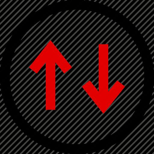 arrows, down, menu, up icon
