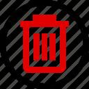 bin, can, menu, trash icon