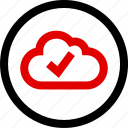 check, cloud, mark, menu icon