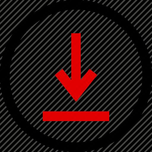 arrow, down, download, menu icon