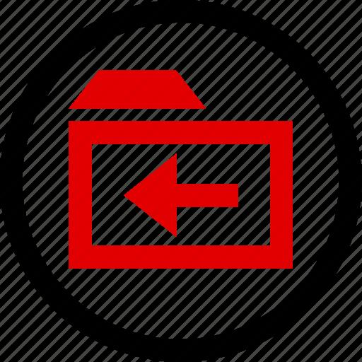 arrow, folder, menu icon