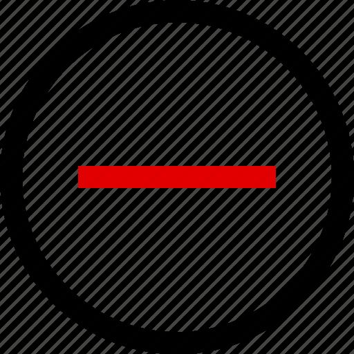 menu, negative, neutral icon