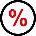 investment, menu, percentage icon