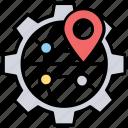 geoblogging, geocoding, geographical identification metadata, geotagging, location-based seo service icon