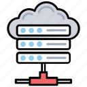 cloud computing, cloud database, datacenter, decentralized cloud, server cloud backup icon