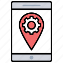 location optimization, location settings, mobile optimization, mobile seo, place optimization icon
