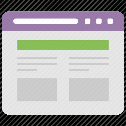 web design, web page, web processing, website development, website layout icon