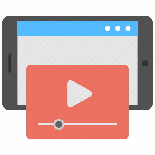 digital marketing, media advertising, online marketing, video tutorial, vlogging icon