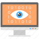 cyber eye, cyber security, digital technology, system privacy, web monitoring icon