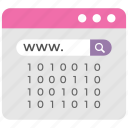domain search, information data, web surfing, web url, website search icon
