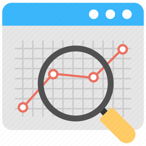 financial review, statistic review, web analysis, web performance report, website analysis icon