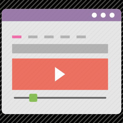 digital marketing, media advertising, online streaming, video tutorial, vlogging icon