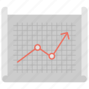 analytical graph, financial chart, growing graph, growth analysis, statistics chart icon