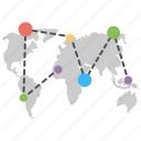 global communication, global network, globe with connection, world internet services, worldwide network icon