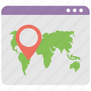 geolocation, internet navigation, local seo, location pointing, web routing icon