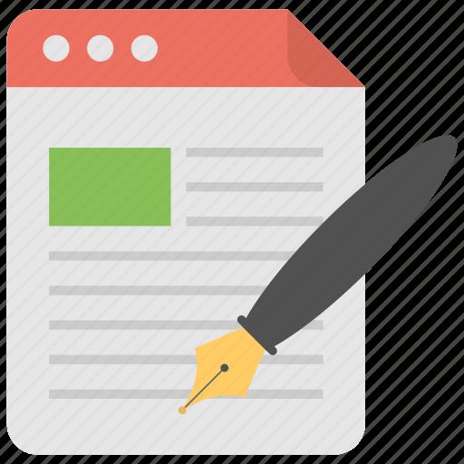 article writing, blog, content development, content management, content writing, copywriting icon