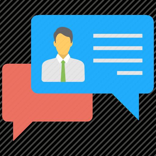 communication, conversation, forum, social channel, social chats icon