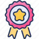 achievement, award, badge, medal, page, rank, tag