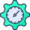 clock, corporate, gear, management, schedule, setup, time