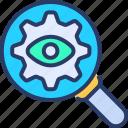 analytics, data, magnifying, monitoring, searching, seo, supervision