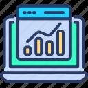 analytics, chart, data, graph, monitor, seo, web