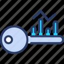 analytics, chart, graph, keyword, optimize, rank, research