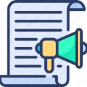 article, blog, content, copyright, marketing, megaphone, production