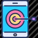 aim, goal, mobile, search, seo, success, target