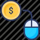 click, digital, earning, money, online, pay, per