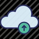 cloud upload, cloud transfer, cloud uploading, cloud computing icon
