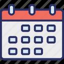calendar, schedule, timeframe, wall calendar icon