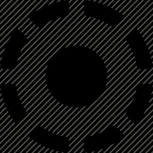 crosshair, focus, picture focus, target, target area icon