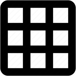 box grid, design grid, grid, interface, visualization icon