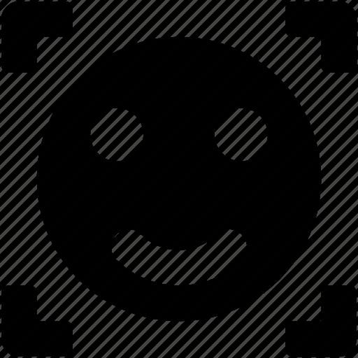 camera, camera focus, focus, smiley, smiley focus icon