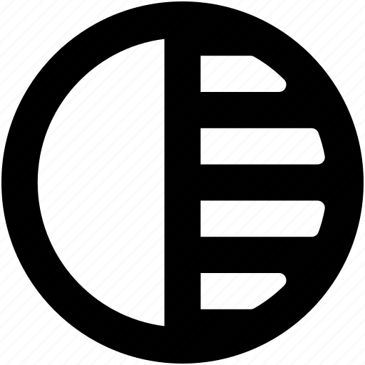 circle contrast, circular, illumination, light, shapes icon