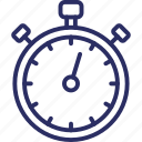 chronometer, timekeeper, stopwatch, clock, watch icon